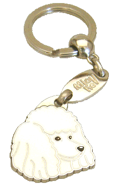 POODLE WHITE - pet ID tag, dog ID tags, pet tags, personalized pet tags MjavHov - engraved pet tags online